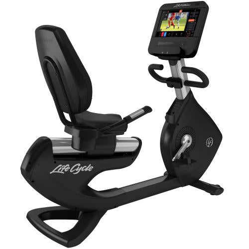 Elevation Series Lifecycle® Recumbent Exercise Bike with Discover ST Console in Artic Silver