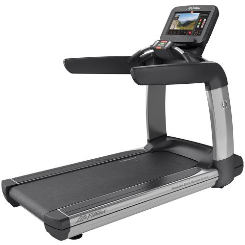 Elevation Series Treadmill with Discover SE3 Tablet Console in Artic Silver.