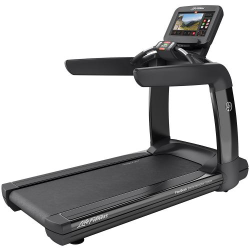 Elevation Series Treadmill with Discover SE3 Tablet Console in Black Onyx.