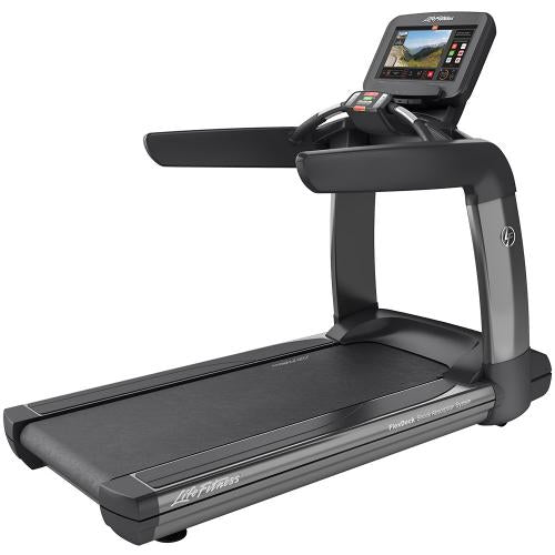 Elevation Series Treadmill with Discover SE3 Tablet Console in Titanium Storm.