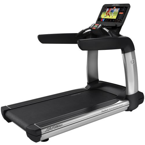 Elevation Series Treadmill with Discover ST Console in Artic Silver.