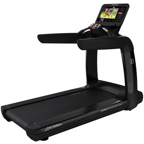 Elevation Series Treadmill with Discover ST Console in Black Onyx.