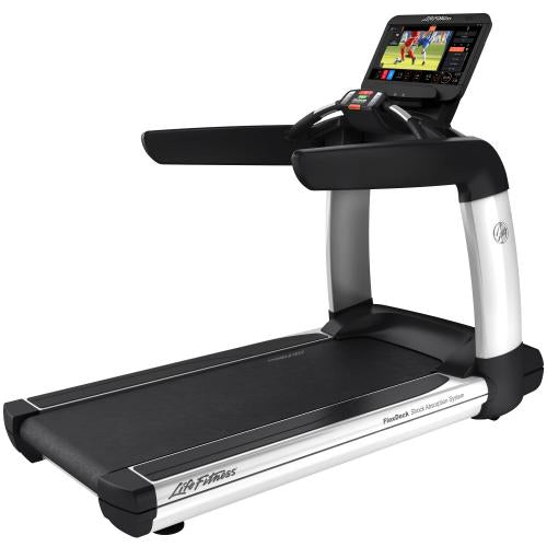 Elevation Series Treadmill with Discover ST Console in Diamond White.