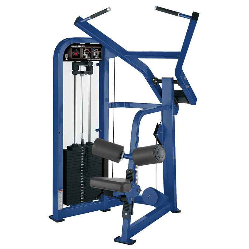 Hammer Strength Select Fixed Pulldown in all blue.