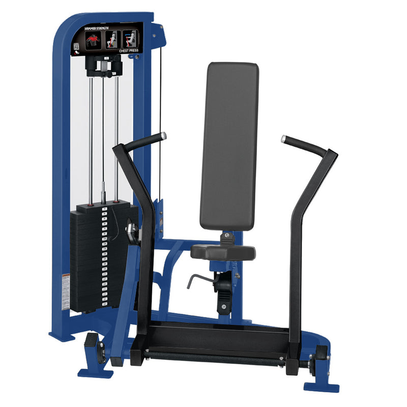 Hammer Strength Select Chest Press in blue and black.