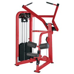 Hammer Strength Select Fixed Pulldown in all red.