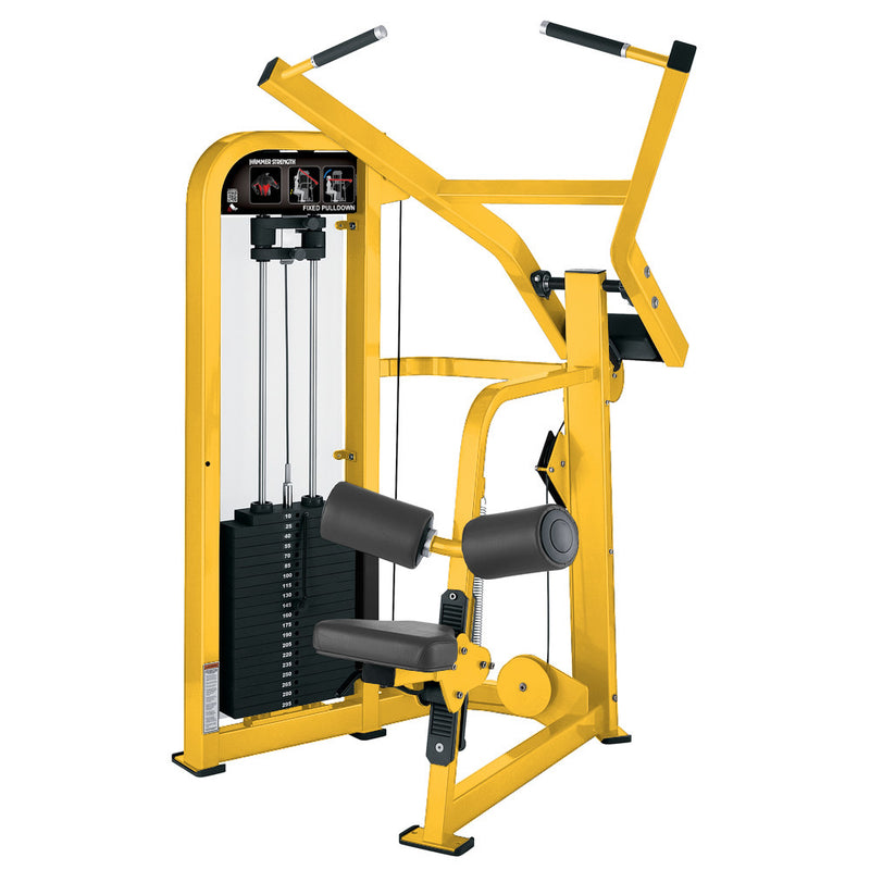 Hammer Strength Select Fixed Pulldown in all yellow.