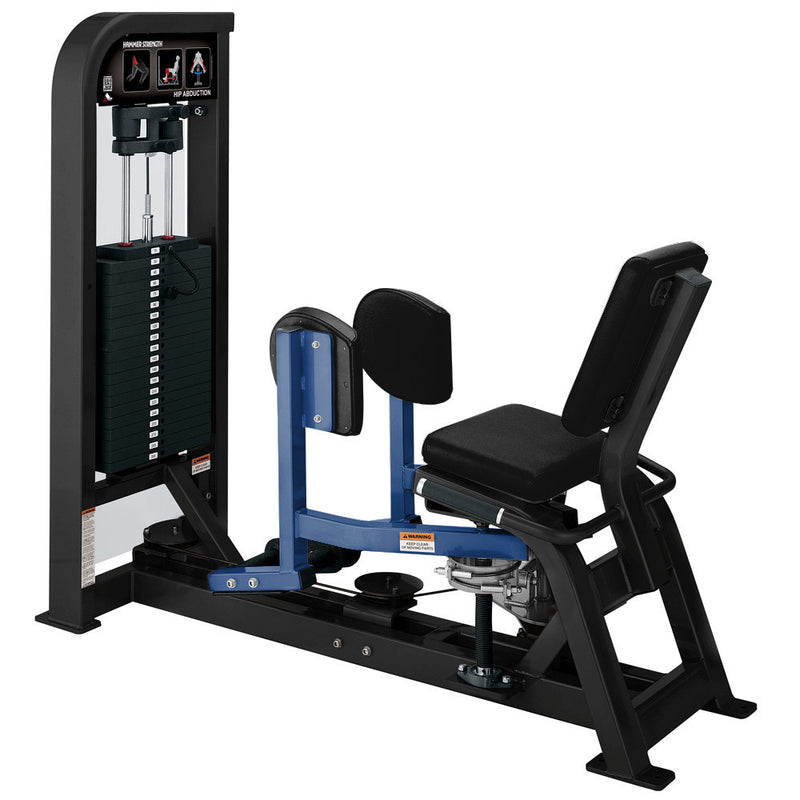 Hammer Strength Select Hip Abduction in black and blue.