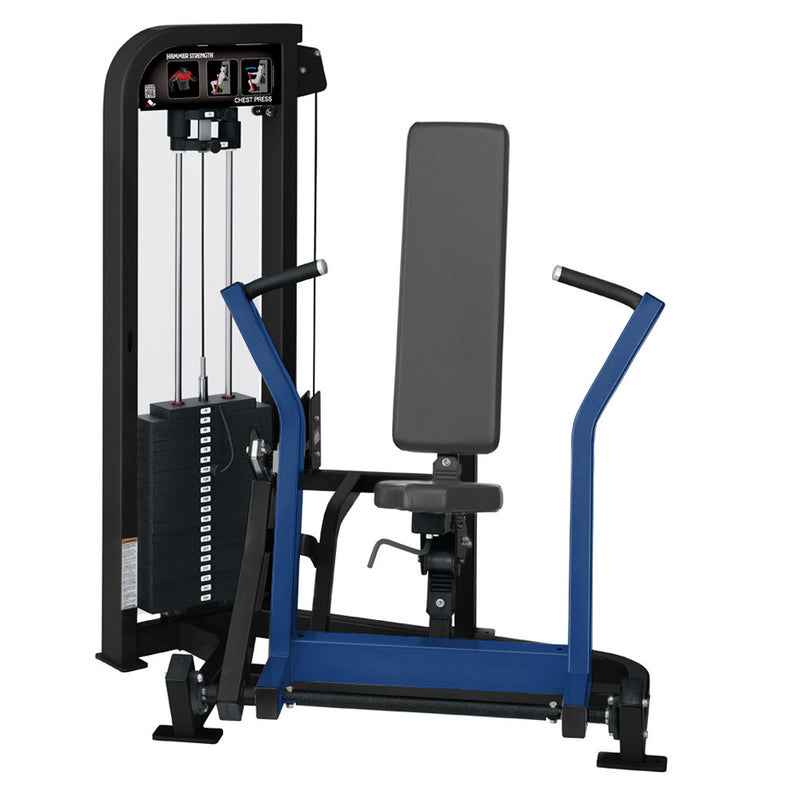 Hammer Strength Select Chest Press in black and blue.