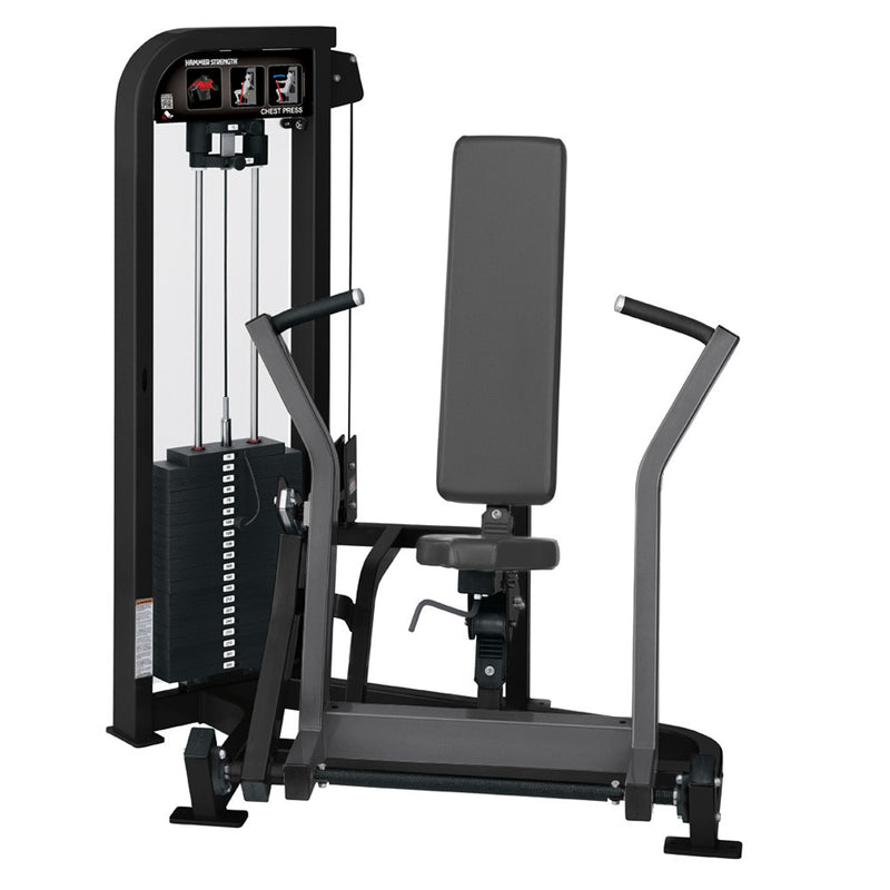 Hammer Strength Select Chest Press in black and titanium.