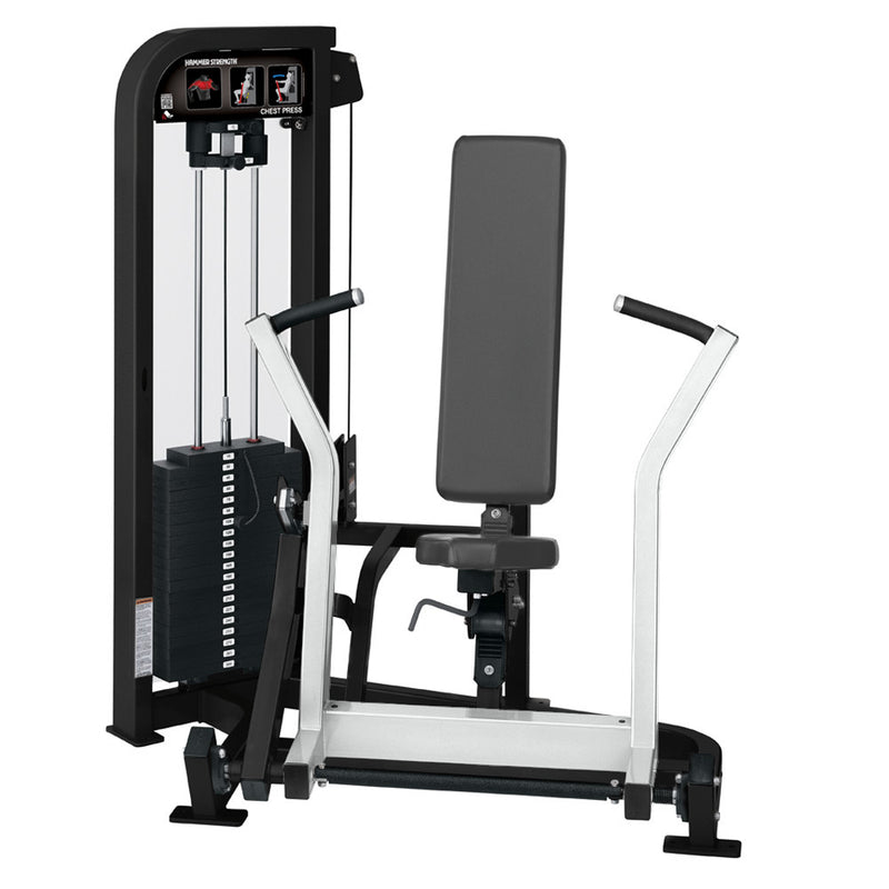 Hammer Strength Select Chest Press in black and white.