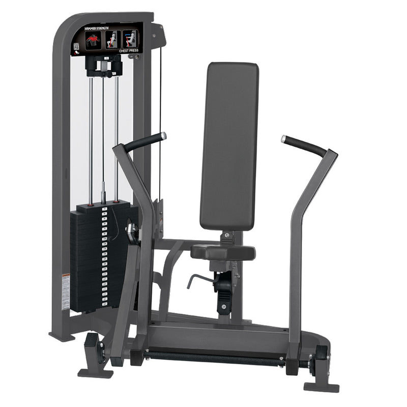 Hammer Strength Select Chest Press in all titanium.