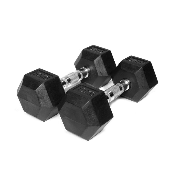 Gym Division Rubber Hex Dumbbells