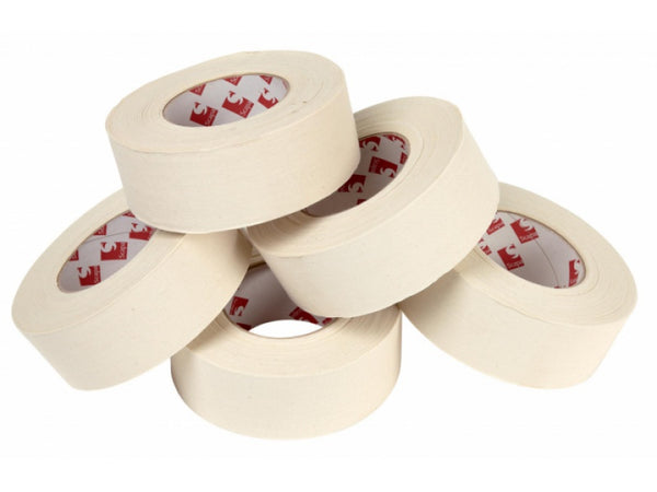 50mm bandage tape stacked up on each other.
