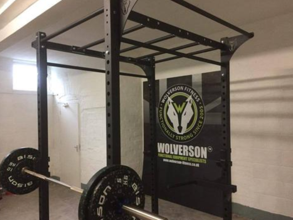 Multi-use rig with Wolverson logo in the background.