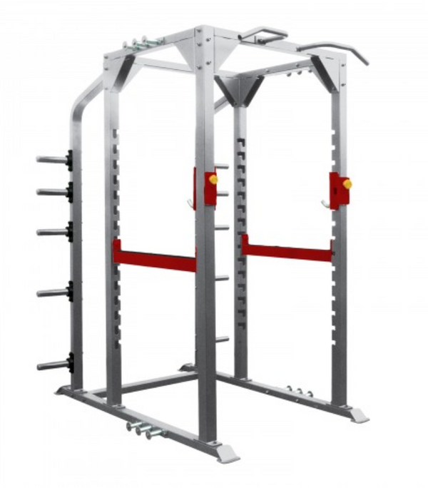 Origin red and silver full rack.