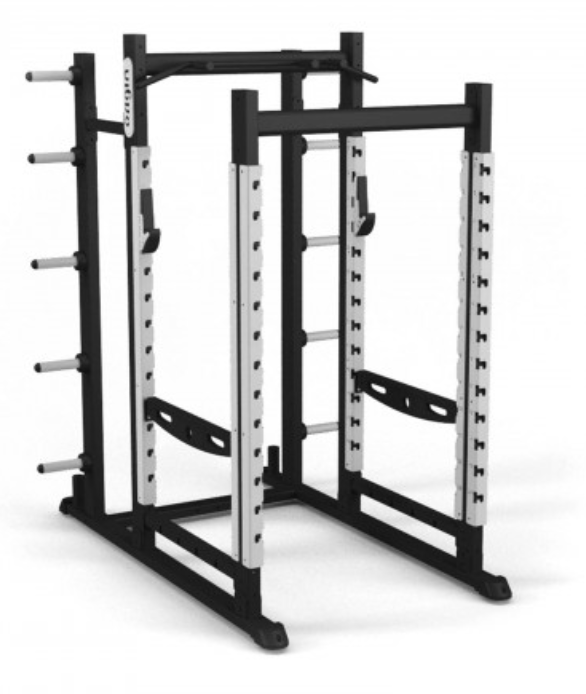 Origin black and silver perfromance rack.