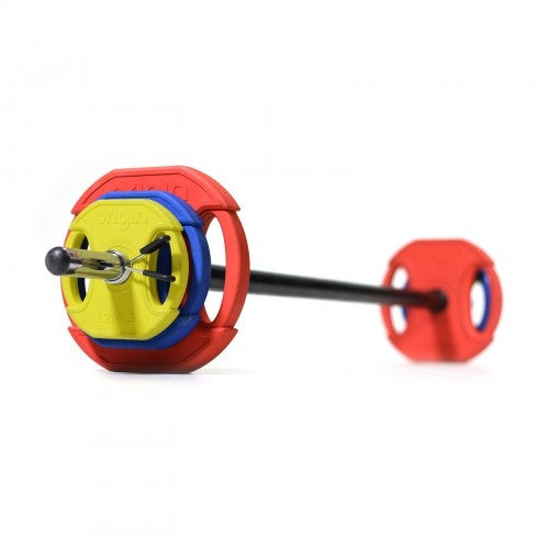RUBBER HOME BARBELL SET - 1.25kg 2.5kg 5kg & Bar