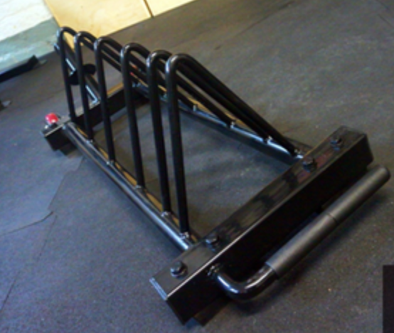 Black rack with 'toaster' design.