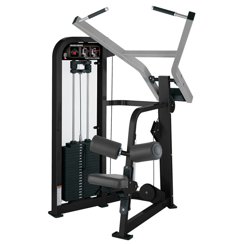 Hammer Strength Select Fixed Pulldown in black and platinum.