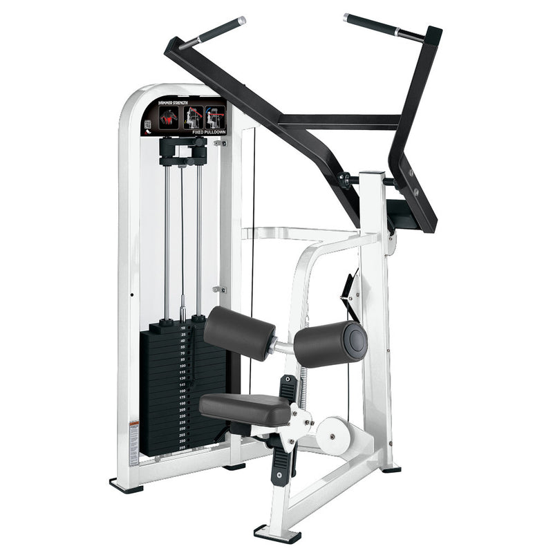 Hammer Strength Select Fixed Pulldown in white and black.