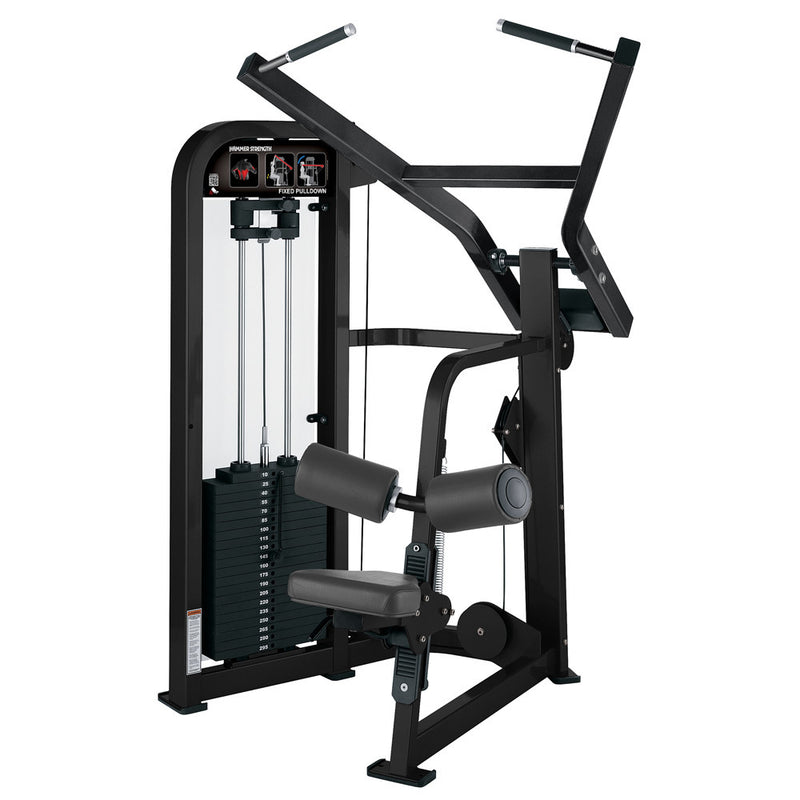 Hammer Strength Select Fixed Pulldown in all black.
