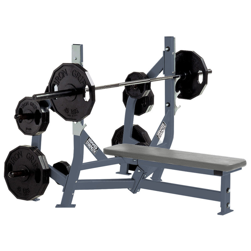 Hammer Strength Olympic Bench Weight Storage