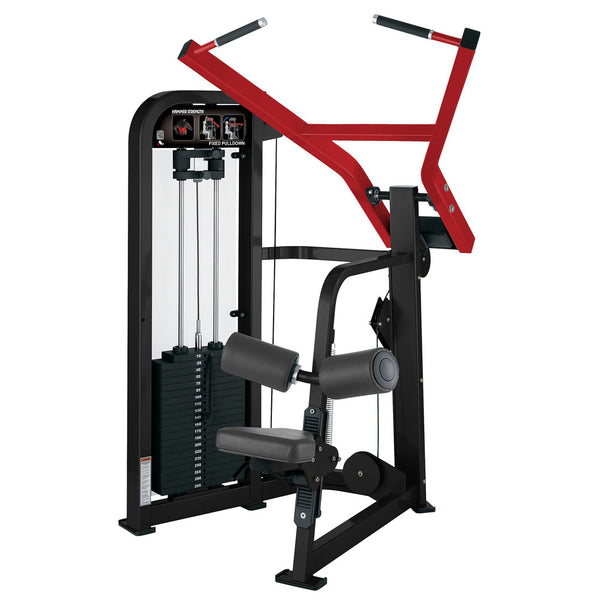 Hammer Strength Select Fixed Pulldown in black and red.