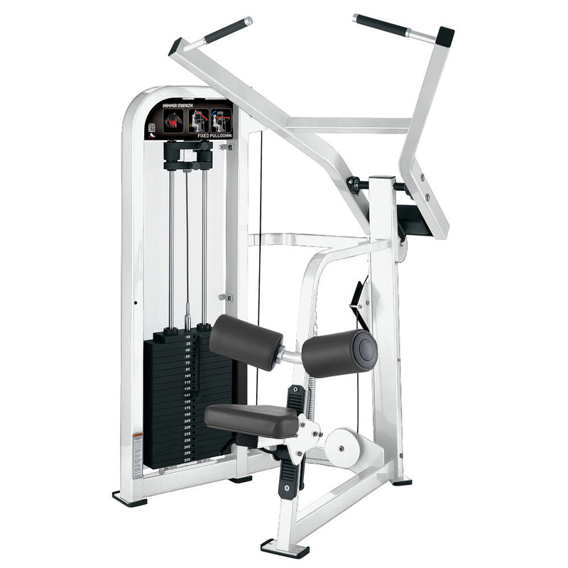 Hammer Strength Select Fixed Pulldown in all white.