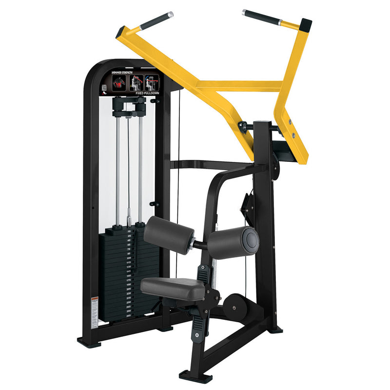 Hammer Strength Select Fixed Pulldown in black and yellow.