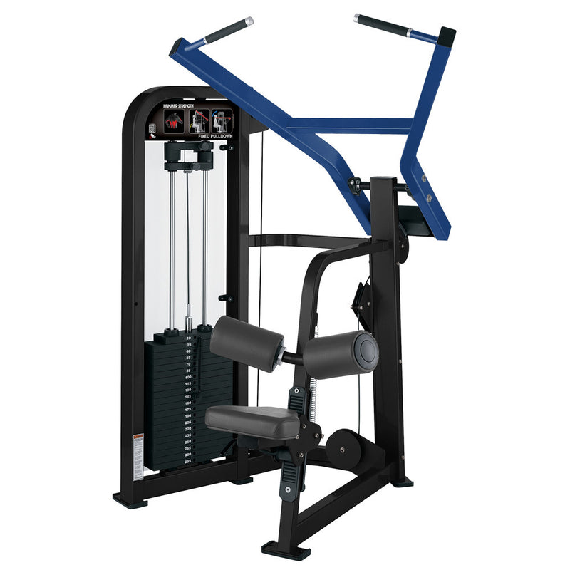 Hammer Strength Select Fixed Pulldown in black and blue.