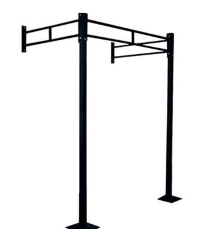 Wall mounted chinning rack