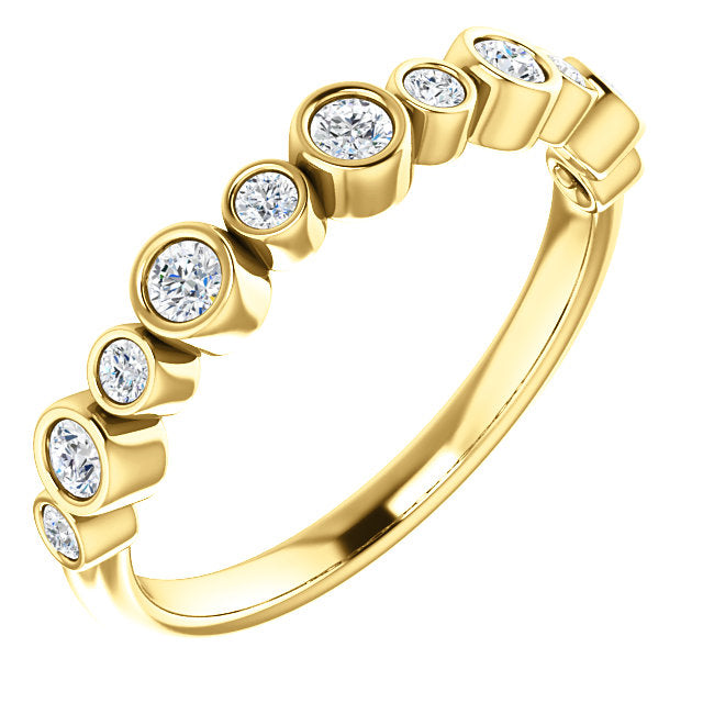 Diamond Bezel Anniversary Band - Michael E. Minden Diamond Jewelers