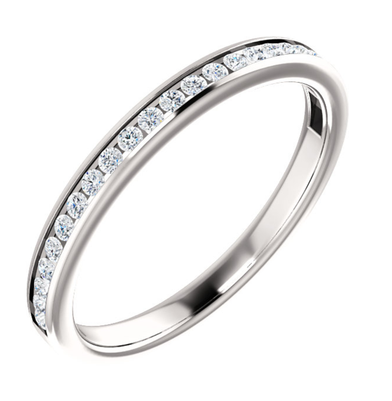 Classic Delicate Channel Set Wedding Ring - Michael E. Minden Diamond Jewelers