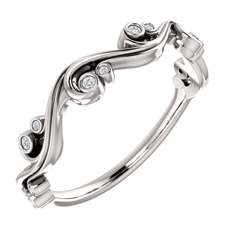 Sculptural-Inspired Wedding Ring - Michael E. Minden Diamond Jewelers