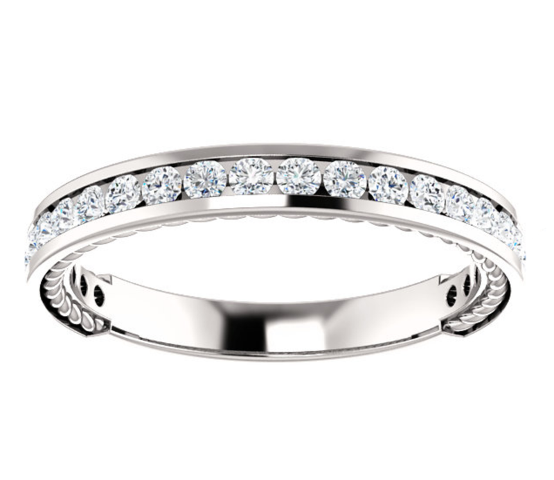 Classic Channel Set Wedding Ring - Michael E. Minden Diamond Jewelers