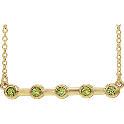 Birthstone Bezel-Set Bar Necklace - Michael E. Minden Diamond Jewelers
