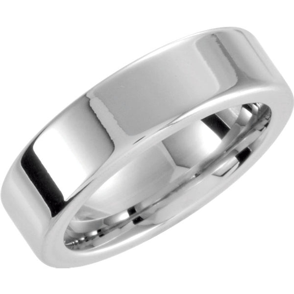 Cobalt Comfort Fit Flat Men's Wedding Band - Michael E. Minden Diamond Jewelers