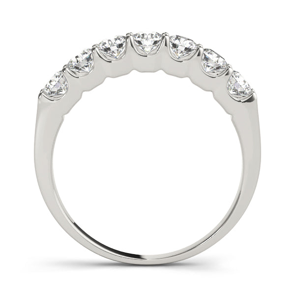 Seven Stone Prong-Set Wedding Ring