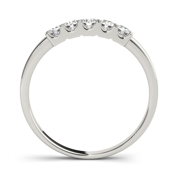 Vintage Inspired Prong-Set Wedding Ring