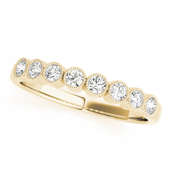 Milgrain Bezel-Set Wedding Ring - Michael E. Minden Diamond Jewelers