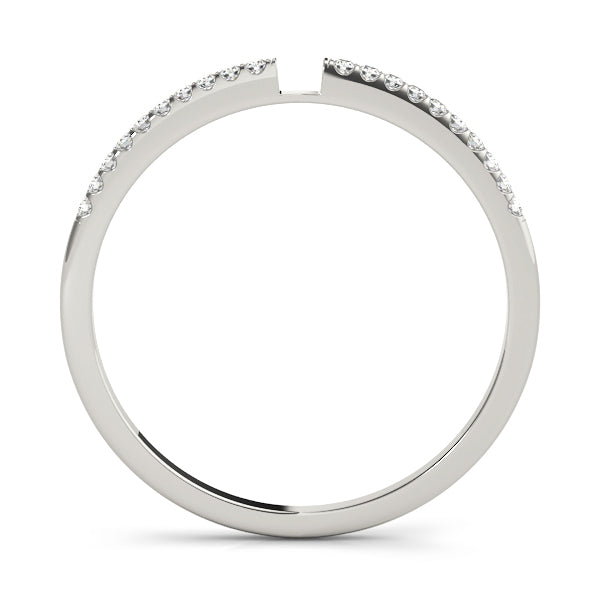 Split Prong-Set Wedding Ring - Michael E. Minden Diamond Jewelers