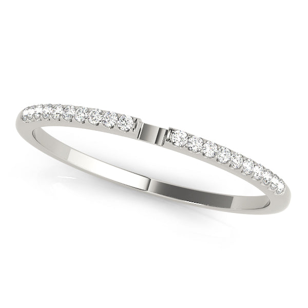 Split Prong-Set Wedding Ring