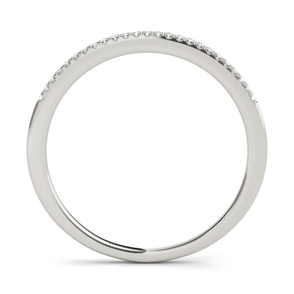 Classic Delicate Prong-Set Wedding Ring - Michael E. Minden Diamond Jewelers