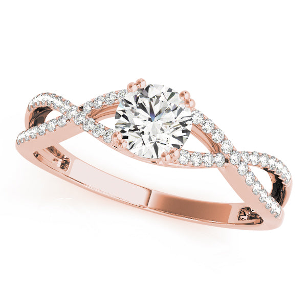 Round Twisted Set Engagement Ring - Michael E. Minden Diamond Jewelers