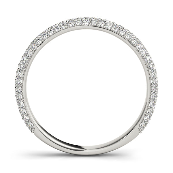 Classic Pave-Set Wedding Ring - Michael E. Minden Diamond Jewelers