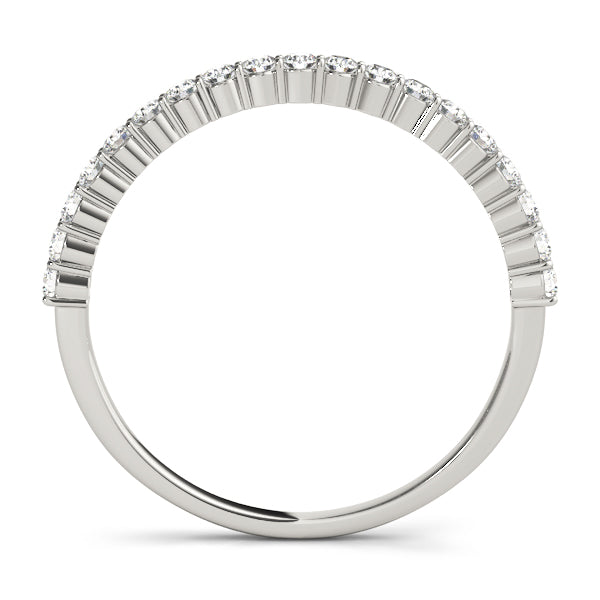 Accented Diamond Prong-Set Wedding Ring - Michael E. Minden Diamond Jewelers