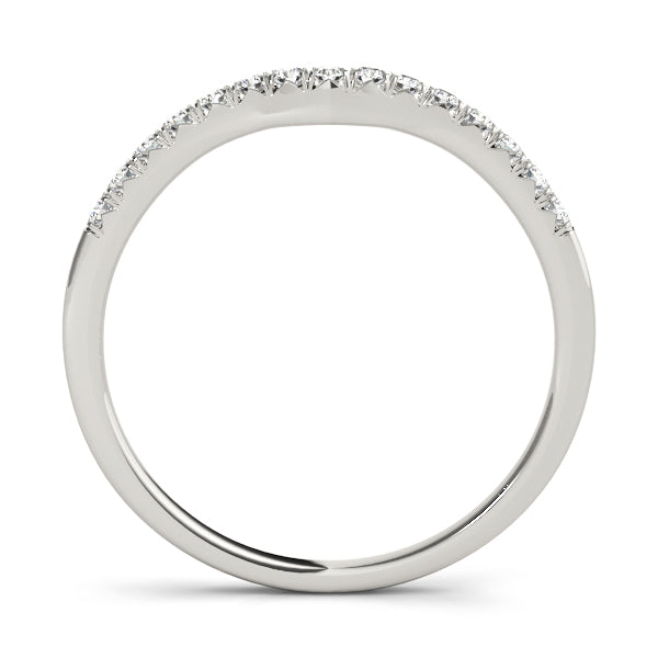 Curved Prong-Set Wedding Ring - Michael E. Minden Diamond Jewelers