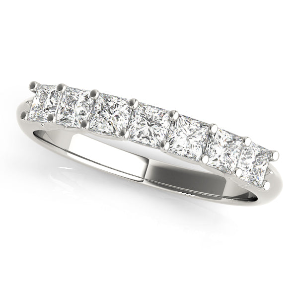 Classic Princess Cut Prong-Set Wedding Ring - Michael E. Minden Diamond Jewelers
