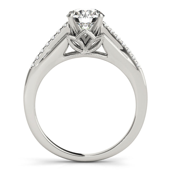 Classic Inspired Split Shank Engagement Ring - Michael E. Minden Diamond Jewelers